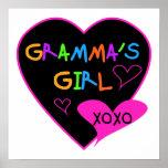 Camisetas del chica de Gramma, tazas, botones, cas Impresiones