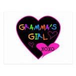 Camisetas del chica de Gramma, tazas, botones, cas Tarjetas Postales