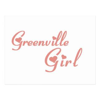 Camisetas del chica de Greenville Tarjetas Postales