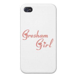 Camisetas del chica de Gresham iPhone 4/4S Carcasa