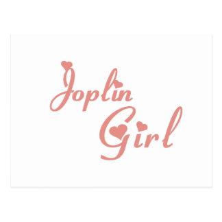 Camisetas del chica de Joplin Postal