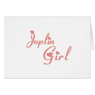Camisetas del chica de Joplin Tarjeta