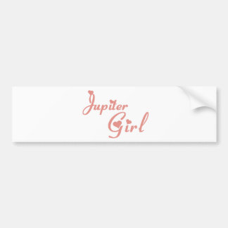 Camisetas del chica de Júpiter Pegatina De Parachoque