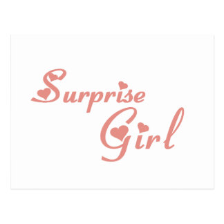 Camisetas del chica de la sorpresa tarjeta postal