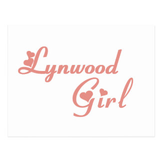 Camisetas del chica de Lynwood Postal