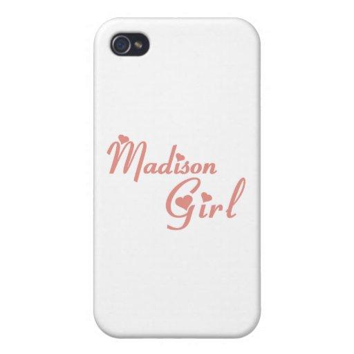 Camisetas del chica de Madison iPhone 4/4S Fundas
