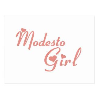 Camisetas del chica de Modesto Tarjetas Postales