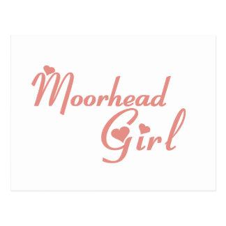 Camisetas del chica de Moorhead Postal