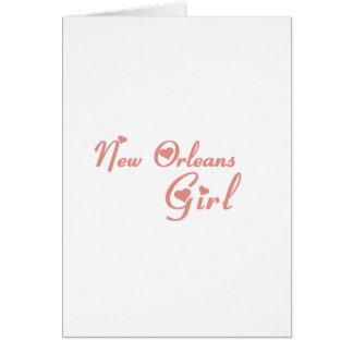 Camisetas del chica de New Orleans Felicitación