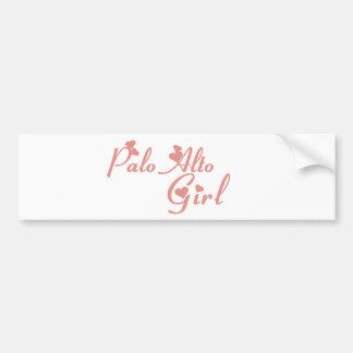 Camisetas del chica de Palo Alto Etiqueta De Parachoque