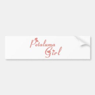 Camisetas del chica de Petaluma Pegatina Para Auto