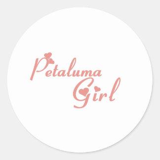 Camisetas del chica de Petaluma Pegatina Redonda