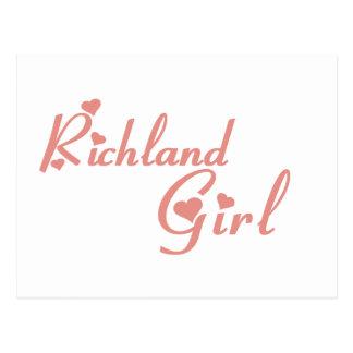 Camisetas del chica de Richland Postal