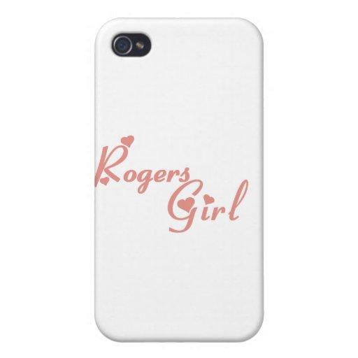 Camisetas del chica de Rogers iPhone 4 Carcasa