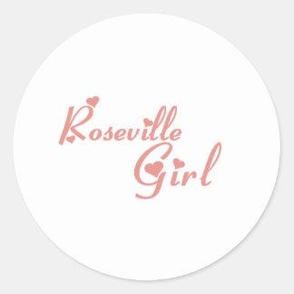 Camisetas del chica de Roseville Etiqueta