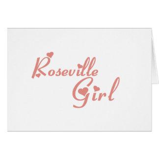 Camisetas del chica de Roseville Tarjetón