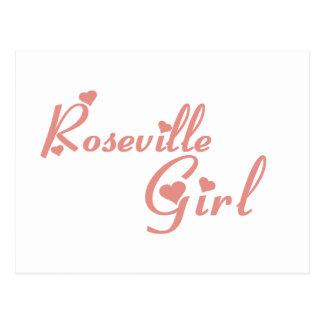 Camisetas del chica de Roseville Postales