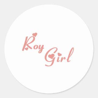 Camisetas del chica de Roy Pegatina Redonda