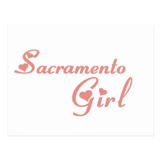 Camisetas del chica de Sacramento Tarjetas Postales