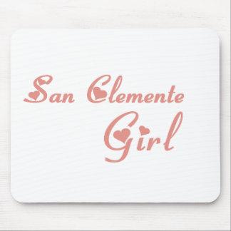 Camisetas del chica de San Clemente Alfombrillas De Raton