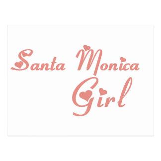 Camisetas del chica de Santa Mónica Postal
