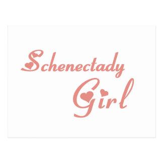 Camisetas del chica de Schenectady Tarjeta Postal