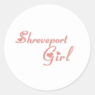 Camisetas del chica de Shreveport Etiquetas Redondas