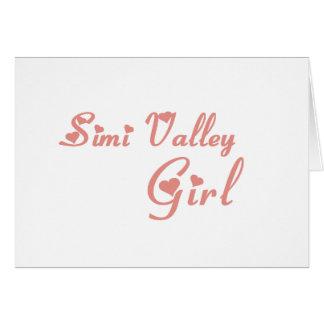 Camisetas del chica de Simi Valley Tarjeta De Felicitación