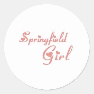Camisetas del chica de Springfield Pegatinas Redondas