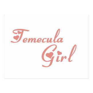 Camisetas del chica de Temecula Tarjetas Postales