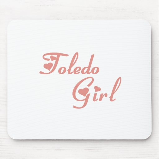Camisetas del chica de Toledo Alfombrilla De Ratón
