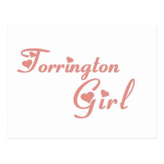 Camisetas del chica de Torrington Postal
