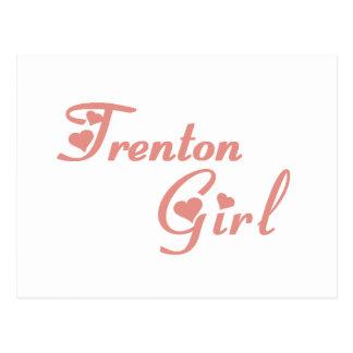 Camisetas del chica de Trenton Postal