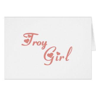 Camisetas del chica de Troy Felicitacion