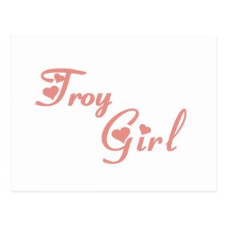 Camisetas del chica de Troy Postal