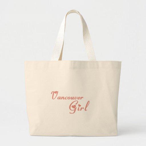 Camisetas del chica de Vancouver Bolsas Lienzo