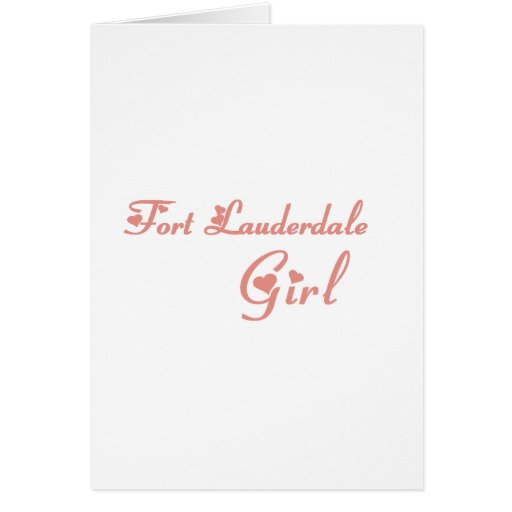 Camisetas del chica del Fort Lauderdale Tarjetas