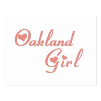Camisetas del chica del parque de Oakland Tarjeta Postal