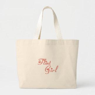 Camisetas del chica del pedernal bolsa