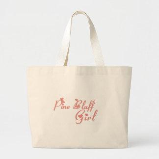 Camisetas del chica del pen¢asco del pino bolsa