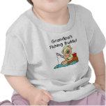 Camisetas del compinche de la pesca del abuelo del