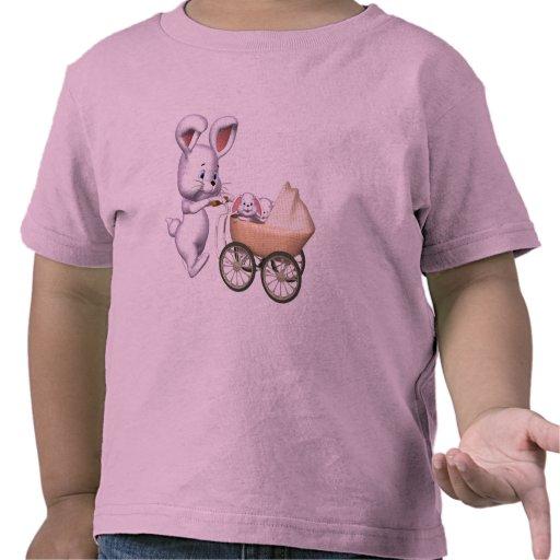 Camisetas del conejo de conejito de los niños y