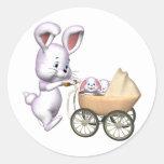 Camisetas del conejo de conejito de los niños y pegatinas redondas