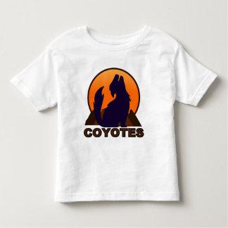 Camisetas del coyote del niño poleras