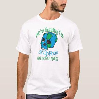Camisetas del cráneo del Día de la Tierra