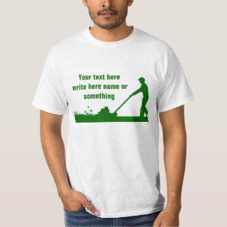 camisetas del cuidado del césped del cortacéspedes