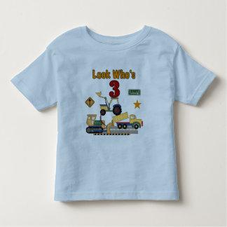 Camisetas del cumpleaños de los vehículos de la