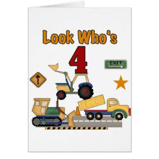 Camisetas del cumpleaños de los vehículos de la co tarjeta de felicitación
