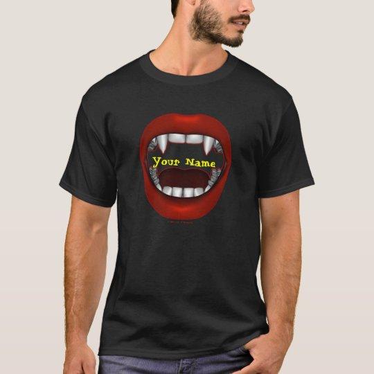 Camisetas del diseño de la boca del empeine