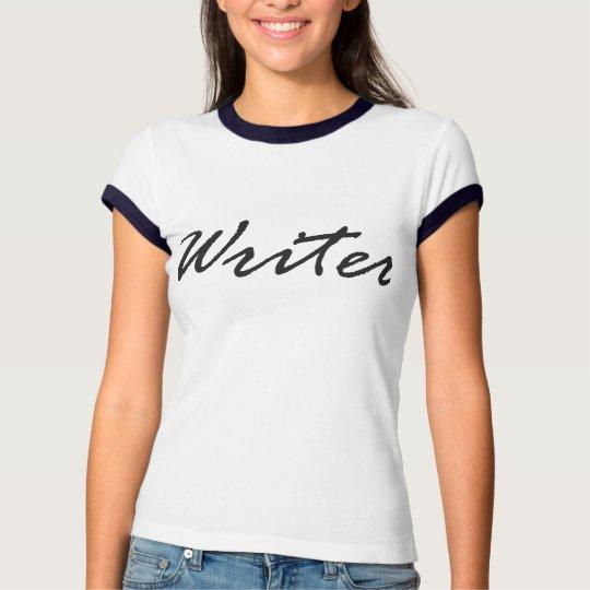 Camisetas del escritor, Handscript